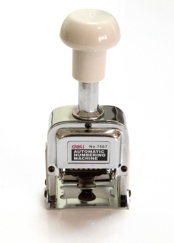 Нумератор KW-trio автоматический 6 разрядов высота цифр 4.8мм металлический 20600